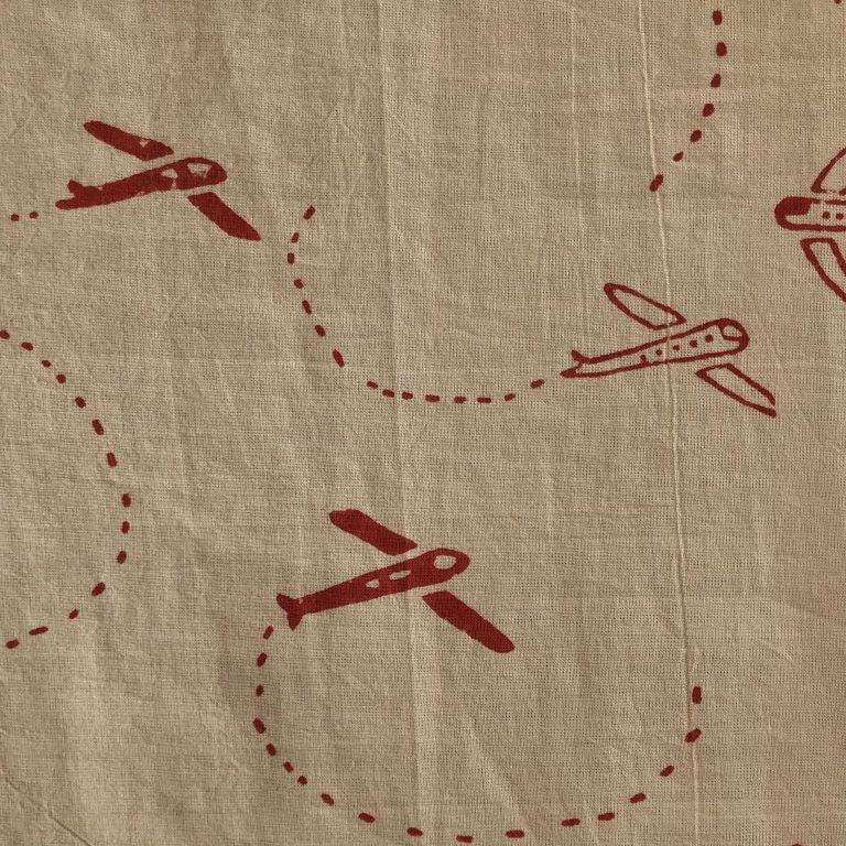 Red & Tan Airshow print