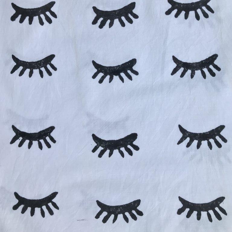 Black & White Lashes print